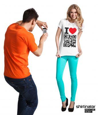 QR-Code bei Shirtinator