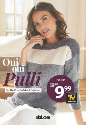 Oui oui Pulli: Traumhafte Strickpullover für 9,99€ statt bisher 19,99€. Ab dem 10.10. in allen NKD Filialen und auf nkd.com