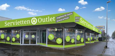 Animation des Hantermann Servietten Outlets