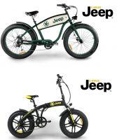 Jeep E-Bikes Modelle Cruise E-Bike CR 7004 und Fold E-Bike 'FR 7020' FAT Style (@ Elektro Mobile Deutschland GmbH)