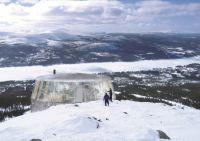 Skybar auf dem Gipfel des Hovärken