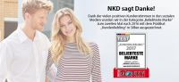 "NKD ist ""Kundenliebling 2017 – Beliebteste Marke"""