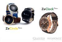 Der besondere Look der neuen Smartwatch Modelle entsteht durch das edle Echtleder-Armband.