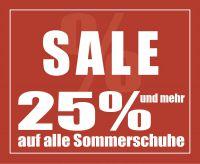 Sommer-Sale: Jetzt alle Sommerschuhe im Sale um 25% reduziert bei SCHUH-Germann
