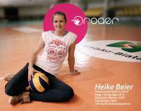 Heike Beier, 187 fache Volleyball-Nationalspielerin, unterstützt roaer - volleyball addicted fashion