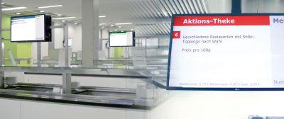 sis Digital Signage Netzwerk im Studentenwerk Bielefeld