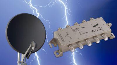 DEHNgate FF5 TV - Überspannungsschutz universell einsetzbar in analogen und digitalen SAT-Anlagen mit terrestrischer Antenne