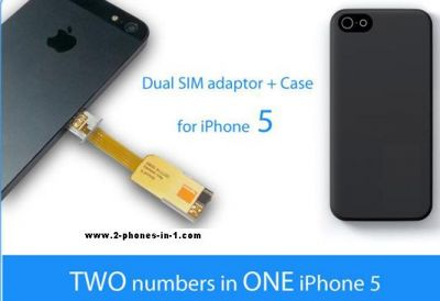 Dualsim Adapter iPhone 5  von 2-phones-in-1