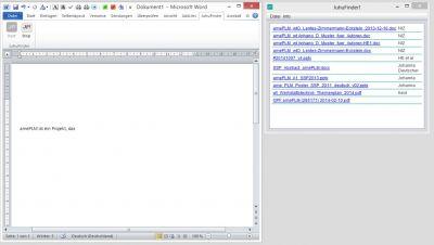 JuhuFinder schlägt automatisch passende Dateien vor - Suchen entfällt und Anwender können sich auf das Wesentliche konzentrieren.