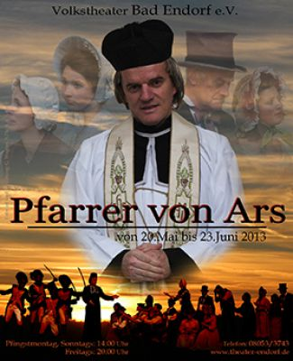 """Plakat zum religiösen Schauspiel """"Der Pfarrer von Ars"""""""