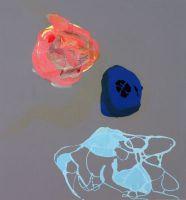 """Michael Bause, """"ohne Titel (Bikini)"""", Acryl, Lacke auf Baumwolle, 2011"""