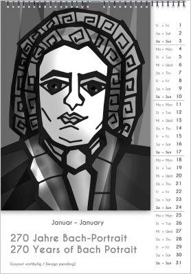 Einer von 33 Bach-Kalendern, das perfekte Musikergeschenk. Ein cooles Geschenk von Musikern und für Musiker.