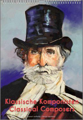Musikergeschenke: Der Musik-Kalender mit dem Portrait Verdis, nur ein Musiker-Geschenk von 99 aus der Kalender-Edition.