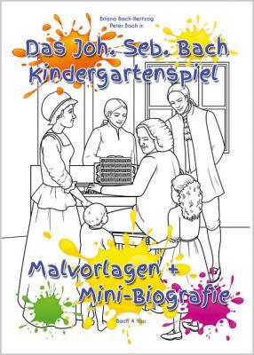 """Kindergarten-Spiele, in 2 Sprachen verfasst: Deutsch und englisch. Cool und locker-leicht wollen zwei Kreative """"Bach verbreiten""""."""