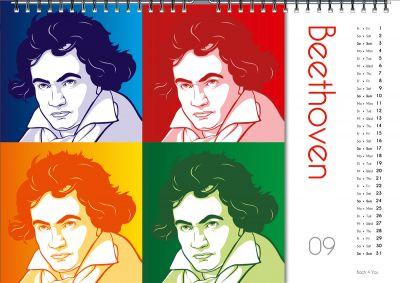Nicht nur Homepages einzurichten, macht Autor Peter Bach jr. Spaß. Auch Kalender entwirft er. Zu vielen Komponisten.