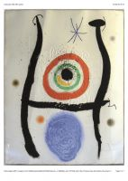 "Joan Miro Grafik ""Le Bleu de la Cible"""