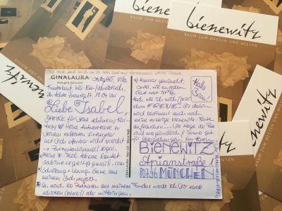Die Postkartenschreiberin am 19.11.2017 live im Bienewitz, München-Schwabing
