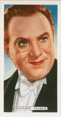 Richard Tauber auf einem Zigarettenbild von ca. 1932
