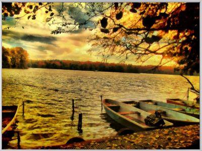 """""""Herbstwetter"""" - Individuelles Kunstwerk aus einem Foto"""