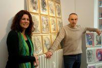 Stefan Noss stellt seine Werke in der Künstlergalerie von Kathrin Hoops aus.