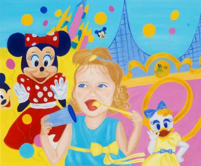 "Pop Art Kunstwerk ""Child world"" von Tanja Playner"