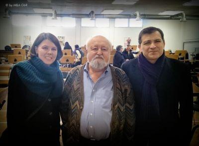 Das Künstlerpaar Maak & Albertz mit Maestro Penderecki