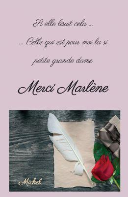 """""""Merci Marlène"""" von Michel Michel"""