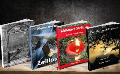 Jürgen Heider hat sich der Lyrik verschrieben. Seine Gedichte sind inzwischen in vier Büchern erschienen.
