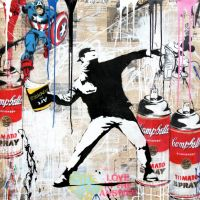 Mr. Brainwash bei GALERIE FRANK FLUEGEL in Kitzbühel | neue Werke von XOOOOX und Fringe