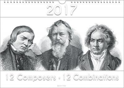33 Bach-Kalender, 33 Musik-Kalender und 33 Komponisten-Kalender. Peter Bach hat sie gestaltet: von cool bis konservativ.