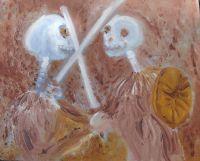 """Patrick Jeune """"Cain und Abel"""" für die Ausstellung beim Kirchentag 2015 in Stuttgart"""