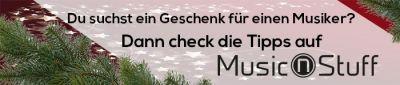 Reichlich Geschenktipps für Musiker und Ton- und Lichttechniker findest du auf www.musicnstuff.de