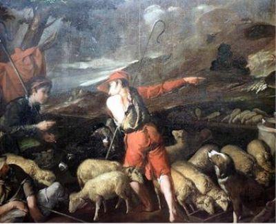 Meisterliche Darstellung einer Schäferszene, Pedro Orrente (1580 - 1645 Spanien)