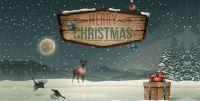 Weihnachtsbauzaunblende
