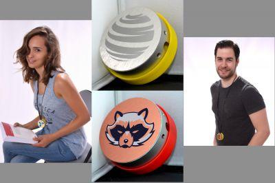 CasEar Kopfhörer Box Mockup mit Logos