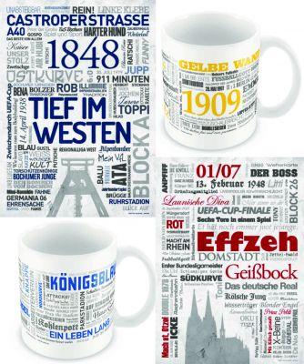 Wörterposter und -tassen als Werbemittel