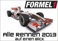 Alle Renntermine der Formel 1 auf einen Blick