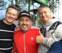 Joschi Haunsperger (rechts), Ralf Schmitz (Mitte) und Mario Schneider auf dem OMKO, dem Onlinemarketingkongress