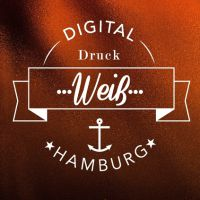 Digitaldruck mit Weiß und Lack in Hamburg