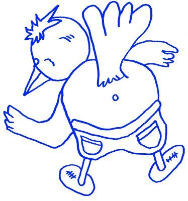 Popo-Birdy provoziert