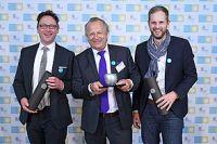 Die strahlenden Gewinner Martin Woermann/Brillux, Thorsten Kalmutzke und Thomas Lenders/Geschäftsführer passepartout