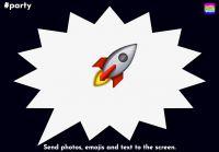 Fotospaß auf Partys und Events: Raketenstarke Emojis, Fotos und Texte mit dem Handy auf den Beamer senden