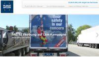 Plakatwerbung am Lkw - wirkt sicher!