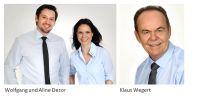 Wolfgang Dezor, Aline Dezor und Klaus Wegert