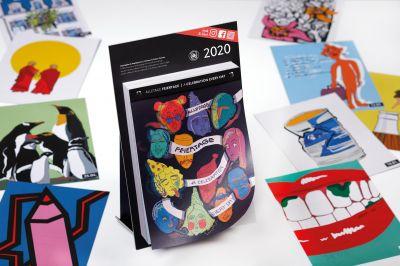"""Der Jahreskalender """"2020 Alletage Feiertage"""" hat auf jedem Kalenderblatt eine Illustration, Foto: Detlef"""