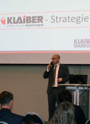 Christian Obermeier von KLAIBER Markisen überzeugt mit dem PREMIUM Partner Konzept beim CRM Best Practice Award.