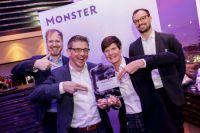 Kuncser & Wegenaer (Königsteiner Agentur) mit Marc Irmisch-Petit & Benjamin Klem (Monster), Foto von Monster Worldwide Deutschland