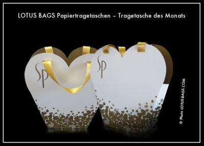 "LOTUS BAGS Papiertragetaschen – Tragetasche des Monats ""WELLA"""