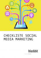 Social Media Marketing Checkliste von Blackbit