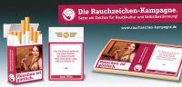 Werbeaufkleber der Rauchzeichen-Kampagne